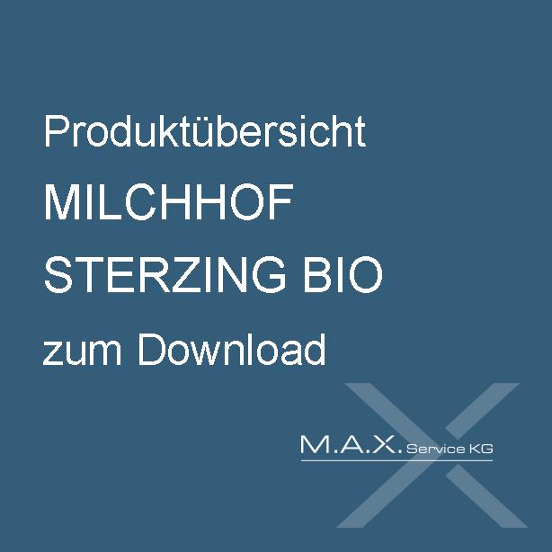 Produktübersicht MILCHHOF STERZING BIO zum Download