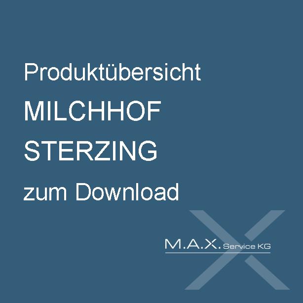 Produktübersicht MILCHHOF STERZING zum Download