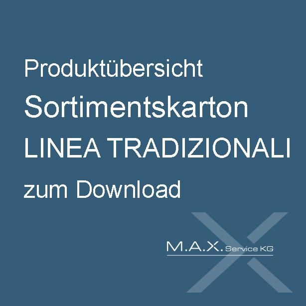 Produktübersicht Sortimentskarton LINEA TRADIZIONALI zum Download